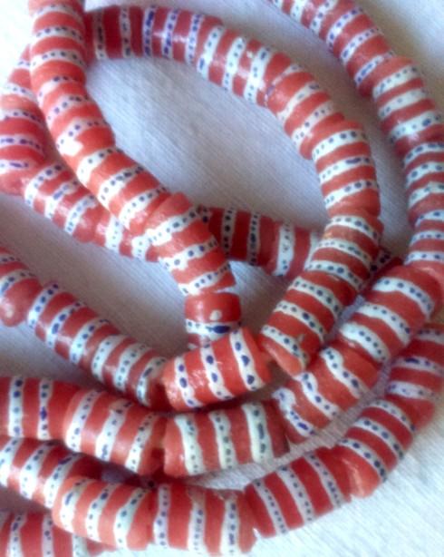 red:white beads