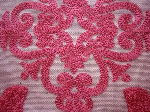 Manuel Canovas Clermont pivoine embroidered linen fabric