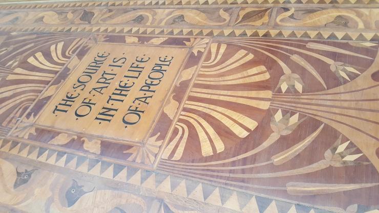 Walter Crane Marquetry floor. South London Gallery.