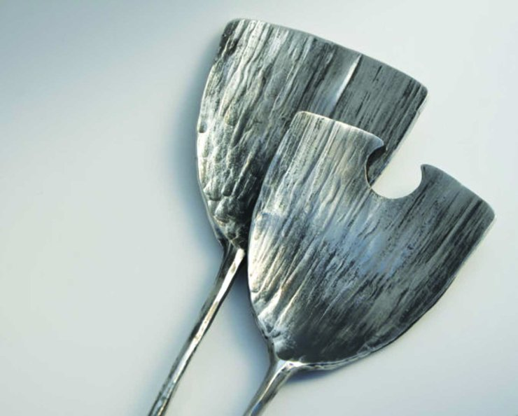 Photograph of  salad servers by Rebecca Knott