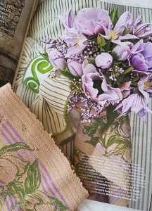 Hellebore block print trim in Milieu Magazine